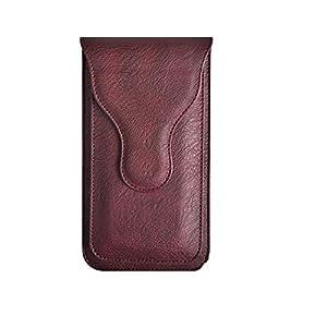 Realtech Multi Function Leather Double Mobile Phone Belt Clip Case for vivo X60 Pro 5G / vivo iQOO 7 / vivo X60 5G – Red…