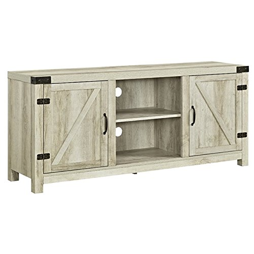 Walker Edison 58″ TV Stand in White Oak