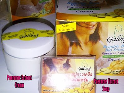 60g. Galong Pueraria Mirifica Bio Serum Bust Enlargement Firming Cream Natural Herbal Firming Cream Creme (Firm Cream Breast From a to F Cup) + 60g. Galong Pueraria Mirifica Bio Serum Soap Vitamin Complex