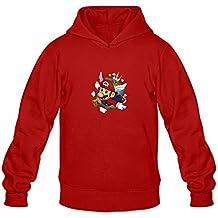 Super Mario 64 Round Neck Hoodies For Men Red L Design Hoodies