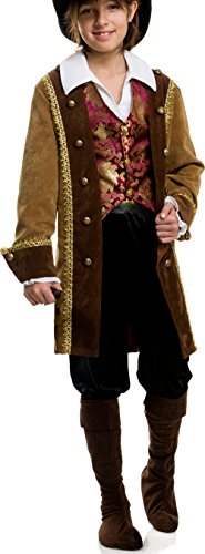 (Charades Deluxe Pirate Pete Children's Costume Jacket Shirt And Vest,)