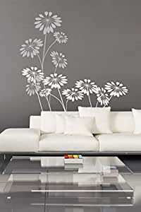 Precious Flowers Wall Decals, Black And White [wa001]