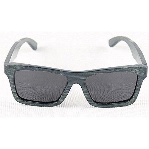 carré plage de polarisées fait protection soleil bois soleil UV en Lunettes lunettes de main lunettes la lunettes lunettes Rétro de conduite soleil lunettes Rétro soleil soleil bambou hommes de Bleu à de d FvaqRFw