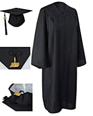 Matte Graduation Gown: • 100% Woven Polyester Matte Finish,Support Machine Wash or Dry Clean  • Approx 145GSM Matte • Hidden Color Matching Zipper • Shoulder, Front And Back Reinforced Pleats • Slightly Stitched Sleeves • 39/42/45/48/51/54/57...