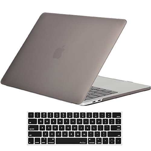 ProCase MacBook Pro 13 Case 2018 2017 2016 Release A1989 A1706 A1708, Hard Case Shell Cover and Keyboard Skin Cover for Apple MacBook Pro 13 Inch with/Without Touch Bar and Touch ID -Gray
