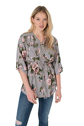 Ardene - Women's - Shirts & Blouses - Floral Belted Top Extra Large ()