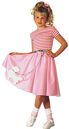 Nifty Fifties Halloween Costume: Small Size (4-6) (50s Pink Poodle Girls Costume)