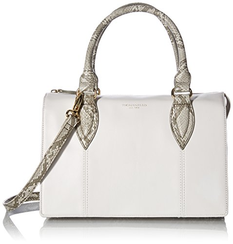 Tignanello City Satchel, White/Snake Tignanello Genuine Leather