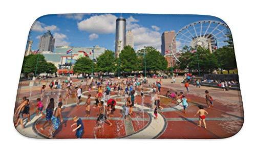 Gear New Bath Mat for Bathroom, Memory Foam Non Slip, Atlanta Park, 24x17, 5640289GN