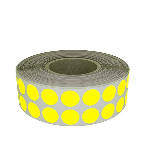 Colored Yellow Sticker 0.25 in (8mm) - Color Coding Circular Dot Labels on Roll 1/4 Inch - 2000 Pack by Royal Green