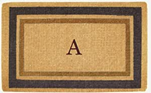 Luxury Coir Monogrammed - Fall Colors Border A 22 x 36