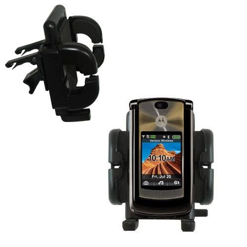 V9m Clip (Gomadic Air Vent Clip Based Cradle Holder Car / Auto Mount suitable for the Motorola MOTORAZR 2 V9m)