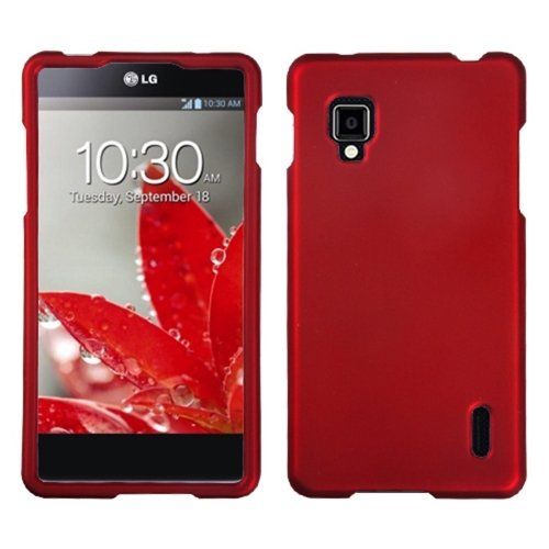 Asmyna LGLS970HPCSO202NP Titanium Premium Durable Rubberized Protective Case for LG Optimus G CDMA LS970 - 1 Pack - Retail Packaging - Red