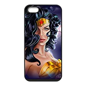 Fashion Funny Wonder Woman Custom Case Cover Custom iPhone for iPhone 5 5s protective Durable case
