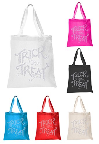 Trick-or-Treat-Halloween-Rhinestone-Tote-bag-party-gift-sweet-bag-fancy-dress-ghost