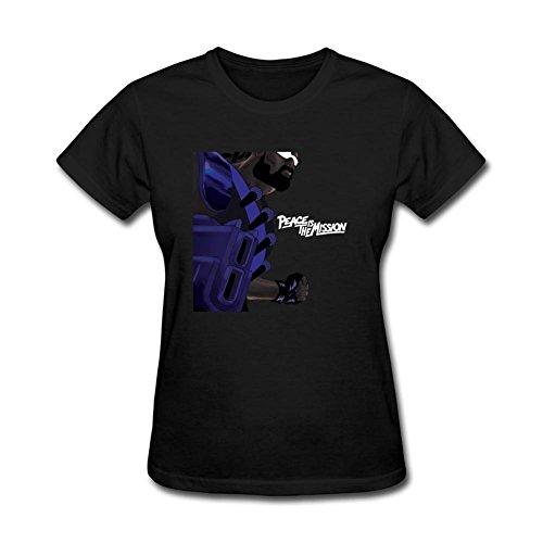 ZHENGXING Women's Peace Is the Mission Major Lazer EDM Short Sleeve T-Shirt L ColorName (Major Johnson T-shirt)