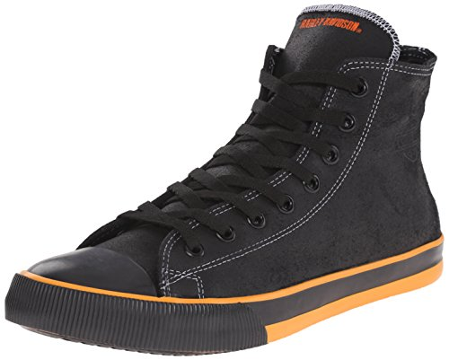Harley-Davidson Men's Nathan Vulcanized Shoe, Black/Orange, 10.5 M US