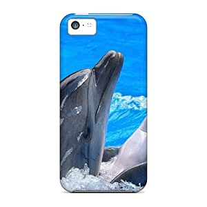 Water Dolphins Mammals For Iphone 4/4s PC iphone High Quality Iphone case cases miao's Customization case