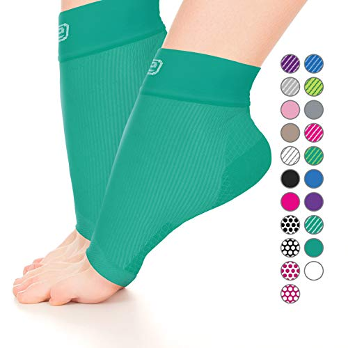 Plantar Fasciitis Sock, Compression Socks for Men Women-Best Ankle Sleeve for Arch Support, Injury Recovery, and Prevention-Relief Joint and Foot Pain, Swelling, Achy Feet(Solid Green, Small)