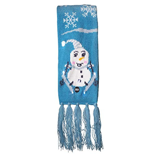 LED Light Up Holiday Scarf for Ugly Christmas Sweater Party (Snowman) -