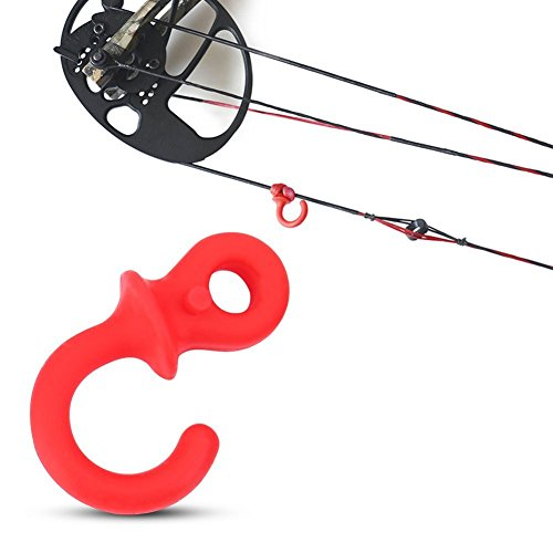 Vbestlife Bow String Silencer 4Pcs Durable Rubber Compound Bow Archery Bowstring Stabilizer Vibration Damper Shock Absorber (Red) ()