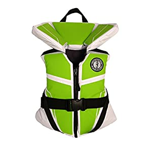 Mustang Survival Lil' Legends 100 Youth Life Vest White/Apple Green by Mustang Survival
