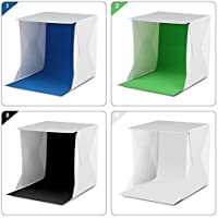 Amzdeal Light Tent Portable Light Box Photography Kit with LED Light (12X12X12 Inches) 4 Colors Backdrops