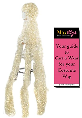 (Bargain Curly Godiva Lacey Wigs 5 ft Long Rapunzel Princess Women Bundle with MaxWigs Costume Wig Care Guide)