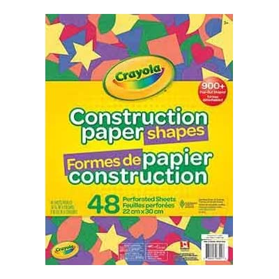 Crayola : Construction Paper Shapes / 48 Pages! (Bilingual): Toys & Games