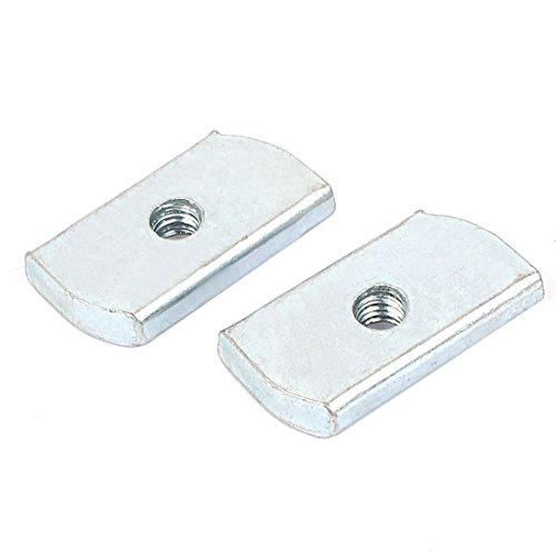 dealmux-m6-plastic-cover-carbon-steel-plain-channel-nuts-25pcs-for-b-line-channels