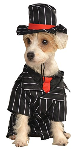 UHC Mob Dog Gangster Mafia Pimp Animal Funny Theme Halloween Pet Costume, XL]()