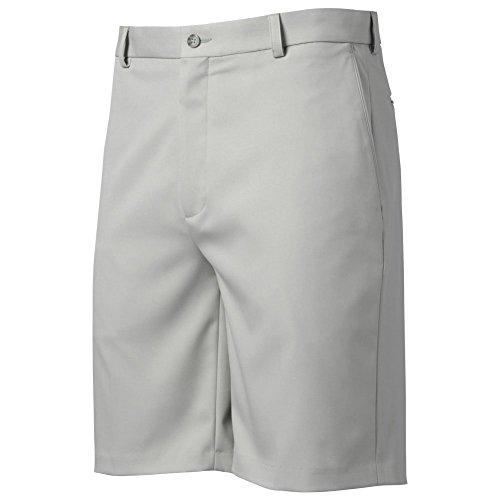 Micro Twill Mens Golf Short (Oxford Golf Mens Flat Front Microfiber Shorts Light Grey 40)