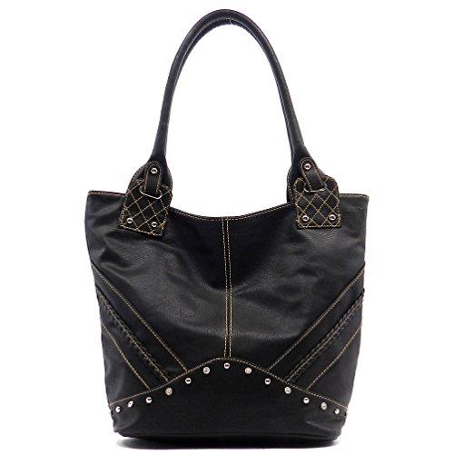 Rodeo No. 168 Fleetwood Oversize Shopper Tote Shoulder Bag (Slate)
