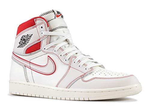 Nike AIR Jordan 1 Retro HIGH OG Sail/Black-Phantom-Gym Red 555088-160 Size US 12.5 (Air Jordan 1 Retro High Og Gym Red)