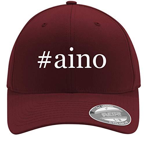 #Aino - Adult Men's Hashtag Flexfit Baseball Hat Cap, Maroon, Small/Medium