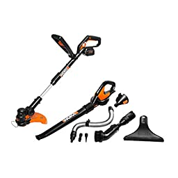 WORX Combo Kit Trimmer, Blower/Sweeper, Batter and Charger