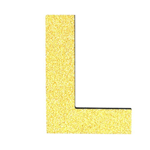 Sikye DIY Foam 26 Letters Alphabet Sticker Wall Art for Kids Learning Wedding Birthday Party Home Decorations,Gold,Silver (Gold (majuscule), L)