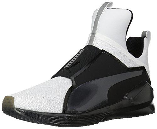 PUMA Women's Fierce Varsity Wn Sneaker, White Black, 8 M US
