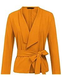 250a5718a96 Kongsta New Spring Office Lady Blazer Slim Solid V Neck Sashes Short Blazer  New Blazers Yellow