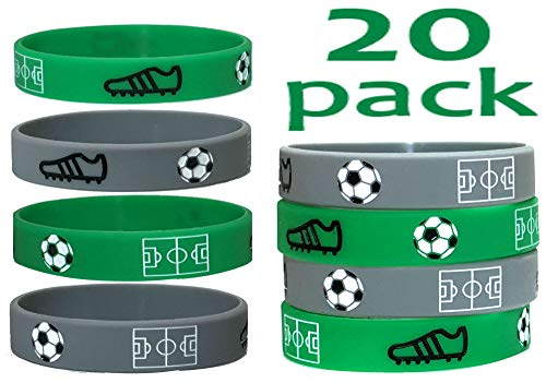 20 pc Soccer Wristband Party Favors (Soccer, Kids)]()