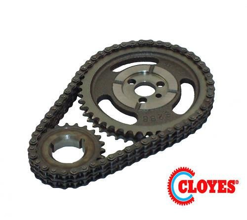 Cloyes C-3023XSP Heavy Duty Timing Set; Incl. Cam Sprocket; 3 Keyway Crank Sprocket; Double Roller Chain; In Clamshell Packaging For Display; (1973 Chevrolet Impala A/c)