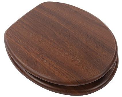 Euroshowers Walnut Wood Toilet Seat 82984