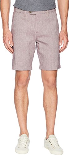 Ted Baker Men's Newshow Linen Weave Shorts Purple 28 R by Ted Baker