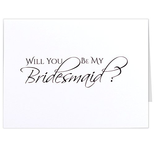Will You Be My Bridesmaid Cards, 5.5 X 4.25 Inches, Matte, White, Pack of 7, Maid of Honor, Matron of Honor, Flower Girl