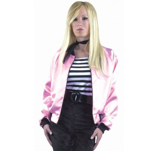 Pink Ladies Satin Jacket Plus Costume (Women's Adult XXX-Large 26-30) (Pink Ladies Jacket Plus Size)
