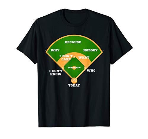 Who's on First? Baseball Diamond Fielding Card T - Baseball First Shirt