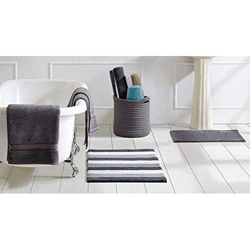 Image of Better Trends / Pan Overseas Bath in a Basket, Grey/Multicolor Bread Baskets