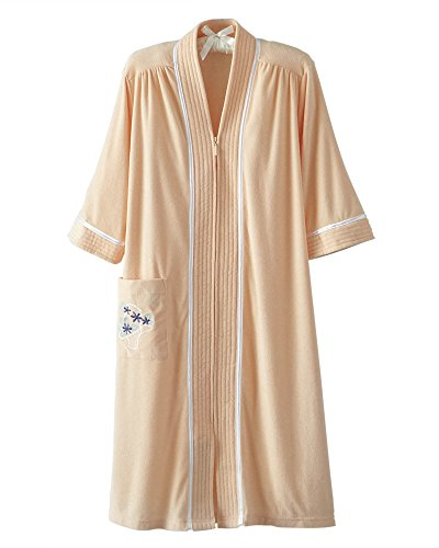 National Soft Knit Terry Lounger, Sunset Peach, 1X - Misses, Womens ()