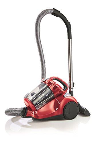AEG AE7872EL CyclonClean All Floor Bagless Cylinder Vacuum, 800 W, Watermelon Red