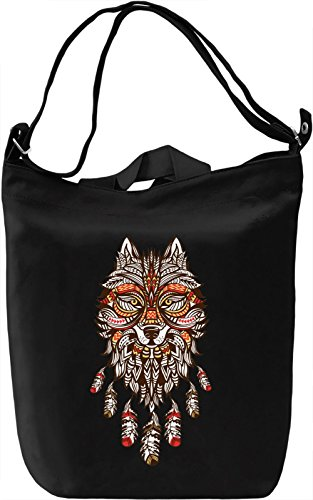 Wolf Borsa Giornaliera Canvas Canvas Day Bag| 100% Premium Cotton Canvas| DTG Printing|